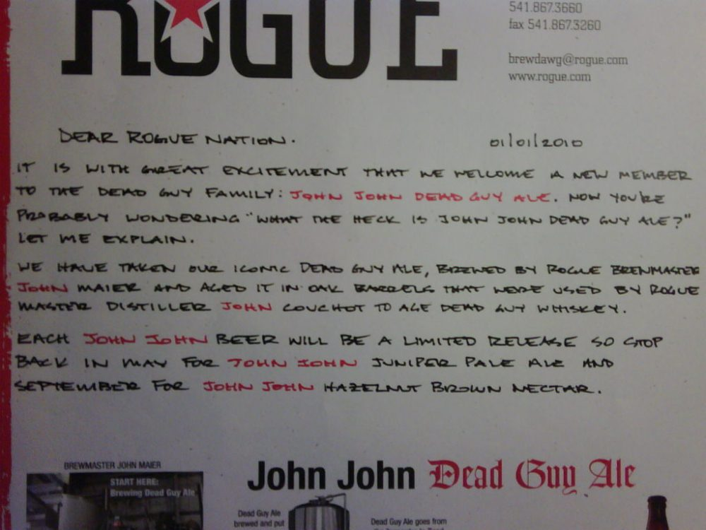Rogue Letter closeup